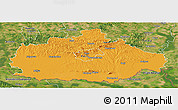 Political Panoramic Map of Baranya, satellite outside