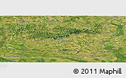 Satellite Panoramic Map of Baranya