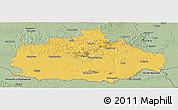 Savanna Style Panoramic Map of Baranya