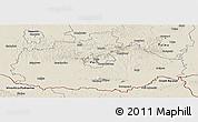 Shaded Relief Panoramic Map of Baranya