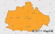 Political Simple Map of Baranya, cropped outside