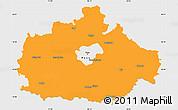 Political Simple Map of Baranya, single color outside
