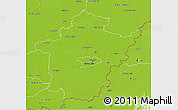 Physical 3D Map of Békés