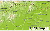 Physical 3D Map of Borsod-Abaúji-Zemplén