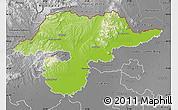 Physical Map of Borsod-Abaúji-Zemplén, desaturated