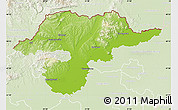 Physical Map of Borsod-Abaúji-Zemplén, lighten