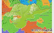 Physical Map of Borsod-Abaúji-Zemplén, political outside