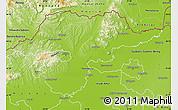 Physical Map of Borsod-Abaúji-Zemplén