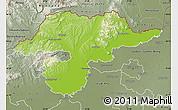 Physical Map of Borsod-Abaúji-Zemplén, semi-desaturated