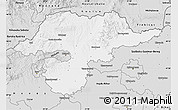 Silver Style Map of Borsod-Abaúji-Zemplén