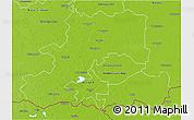 Physical 3D Map of Csongrád