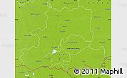 Physical Map of Csongrád
