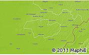 Physical 3D Map of Debrecen