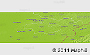 Physical Panoramic Map of Debrecen