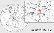 Blank Location Map of Dunaújvaros