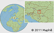 Savanna Style Location Map of Dunaújvaros