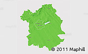 Political 3D Map of Fejér, cropped outside