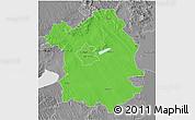 Political 3D Map of Fejér, desaturated