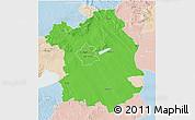 Political 3D Map of Fejér, lighten