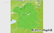 Political 3D Map of Fejér, physical outside