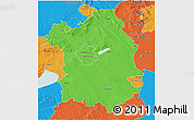 Political 3D Map of Fejér