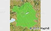 Political 3D Map of Fejér, satellite outside