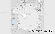 Silver Style 3D Map of Fejér