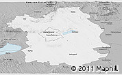 Gray Panoramic Map of Fejér