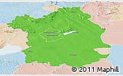 Political Panoramic Map of Fejér, lighten