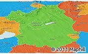 Political Panoramic Map of Fejér