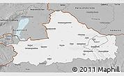 Gray 3D Map of Györ-Moson-Sopron