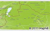 Physical 3D Map of Györ-Moson-Sopron