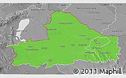 Political 3D Map of Györ-Moson-Sopron, desaturated