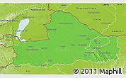 Political 3D Map of Györ-Moson-Sopron, physical outside