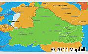Political 3D Map of Györ-Moson-Sopron