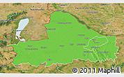 Political 3D Map of Györ-Moson-Sopron, satellite outside