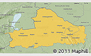 Savanna Style 3D Map of Györ-Moson-Sopron