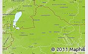 Physical Map of Györ-Moson-Sopron