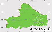 Political Map of Györ-Moson-Sopron, cropped outside