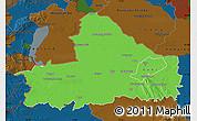 Political Map of Györ-Moson-Sopron, darken