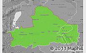 Political Map of Györ-Moson-Sopron, desaturated