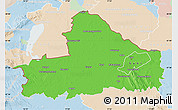 Political Map of Györ-Moson-Sopron, lighten