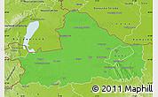 Political Map of Györ-Moson-Sopron, physical outside