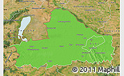 Political Map of Györ-Moson-Sopron, satellite outside