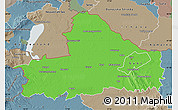 Political Map of Györ-Moson-Sopron, semi-desaturated