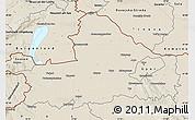 Shaded Relief Map of Györ-Moson-Sopron