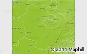 Physical 3D Map of Hajdú-Bihar
