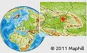 Physical Location Map of Hajdú-Bihar