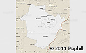 Classic Style Map of Hajdú-Bihar