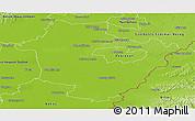 Physical Panoramic Map of Hajdú-Bihar